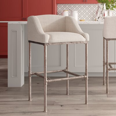 Faux Leather Amp Upholstered Bar Height Bar Stools You Ll