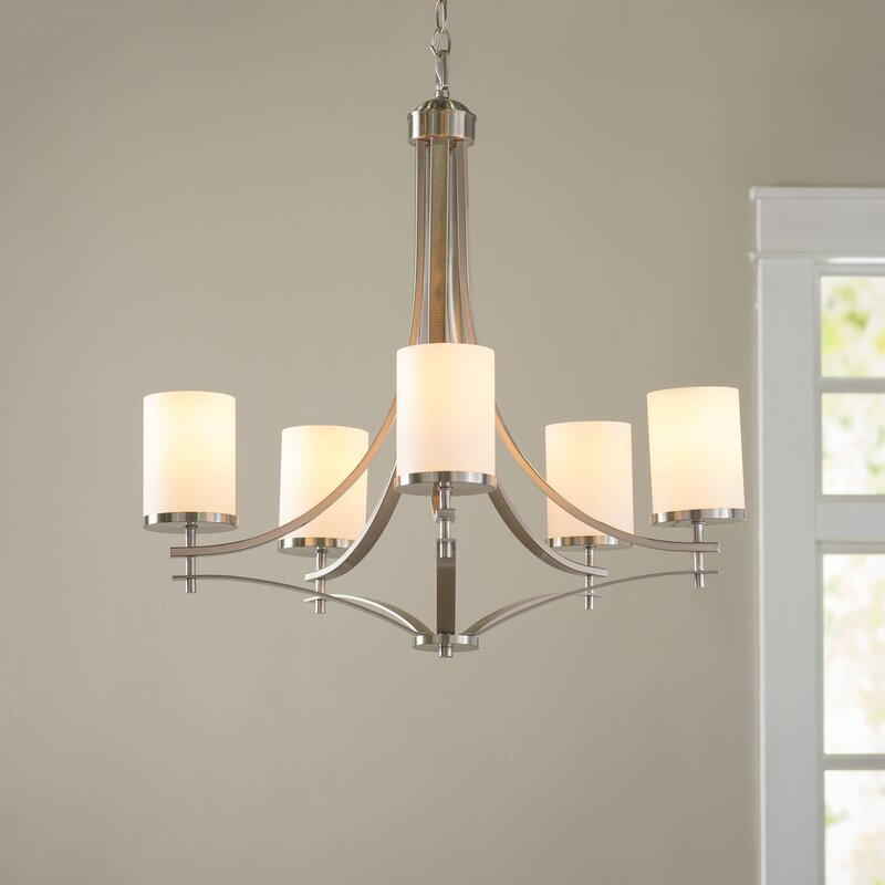 Andover Mills Agnes 5 Light Shaded Chandelier Amp Reviews