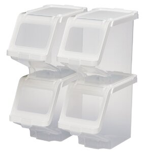 Stackable Storage Bin Set Of 4