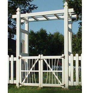 Delicieux Courtyard Vinyl Arbor Gate