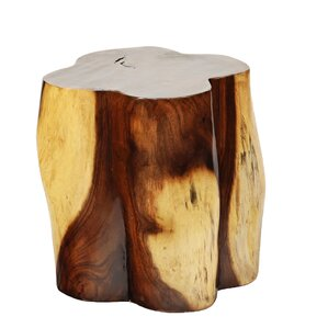 Natural Teak Clover Leaf End Table by Ibolili