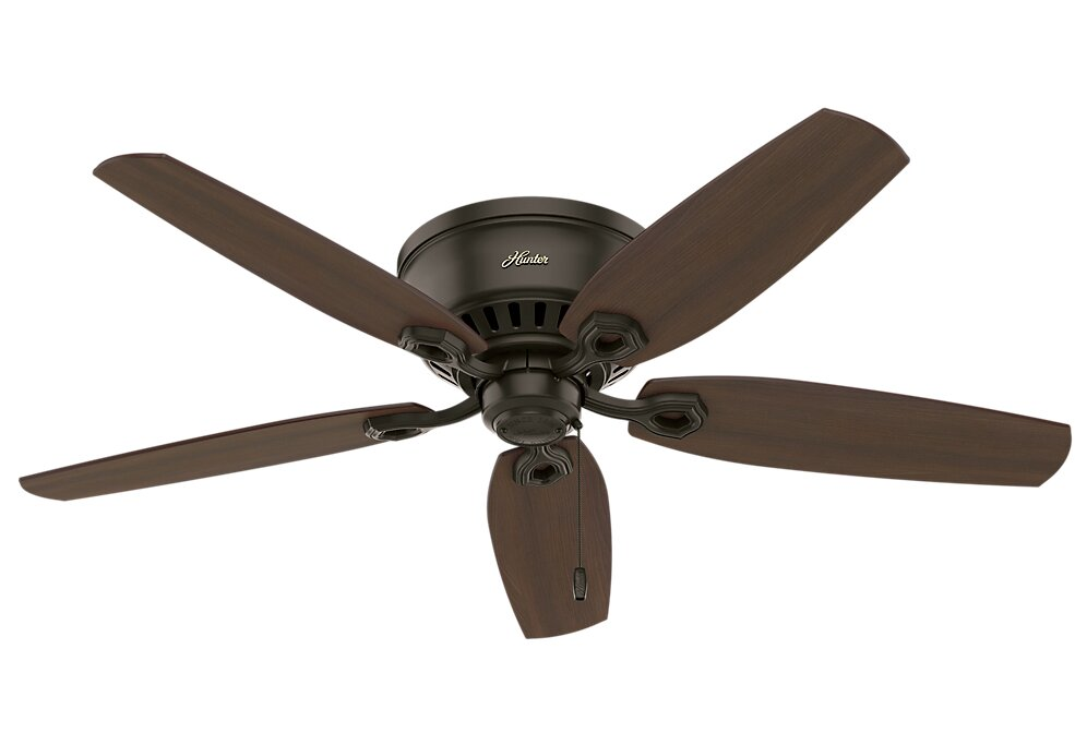 Hunter fan 52 builder low profile 5 blade ceiling fan reviews 52 builder low profile 5 blade ceiling fan mozeypictures Image collections