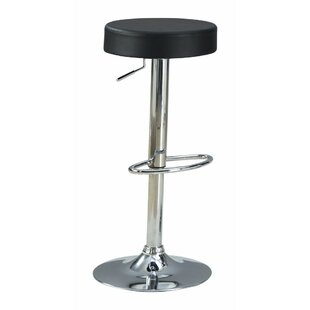 Hipolito Stylish and Elegant Backless Adjustable Height Swivel Bar Stool