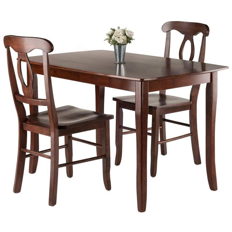 Fetter 3 Piece Solid Wood Dining Set