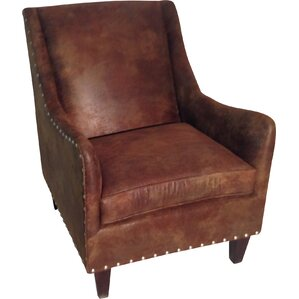 Blundell Leather Armchair by Loon Peak