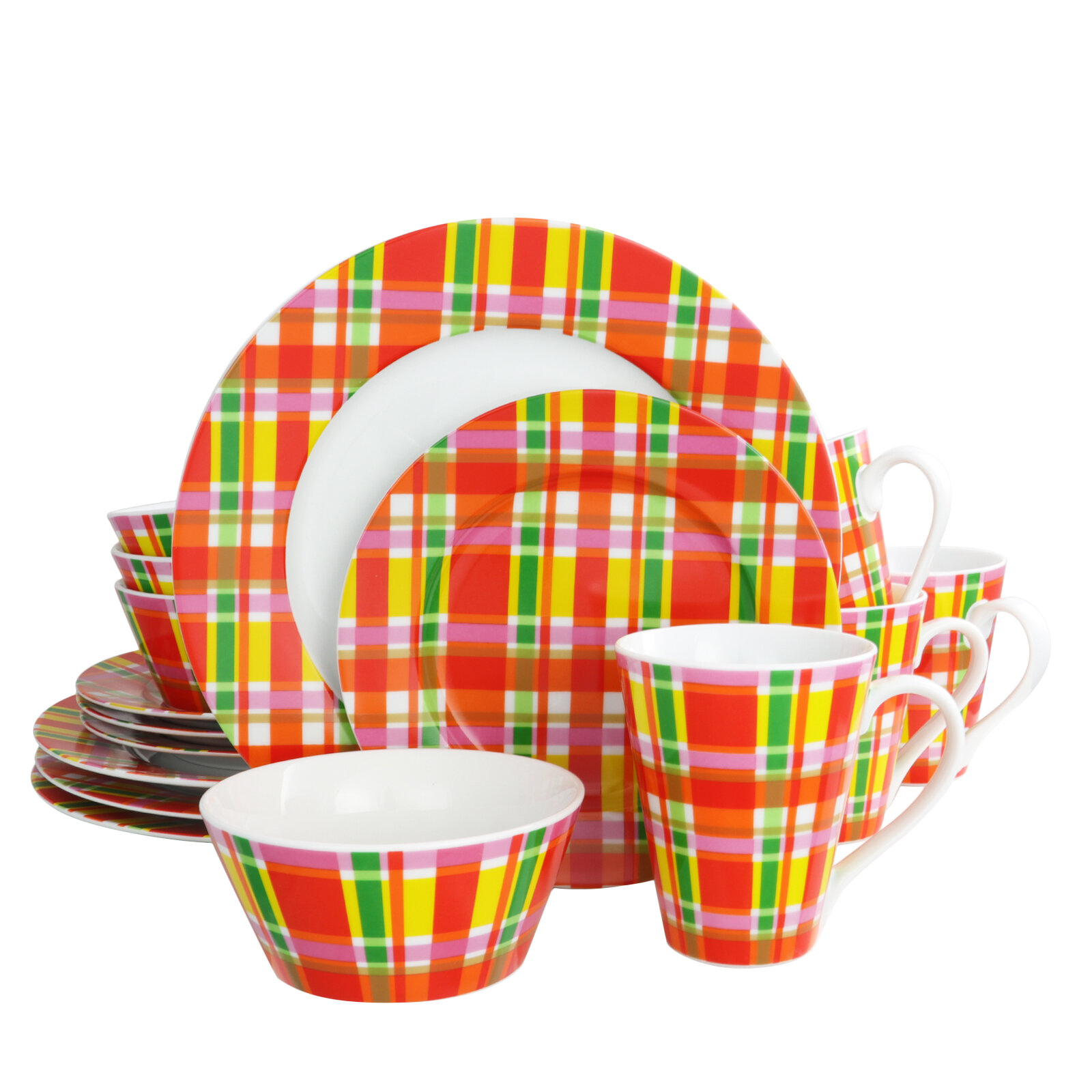 """Gibson Designs SUNFLOWER DAYS/"""" 4 Pc Place Setting Service for 1 Oven Safe"""