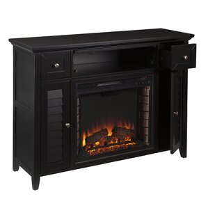 Alcott Hill Cherrywood 3-in-1 Media Electric Fireplace TV Stand Image