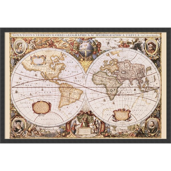 Astoria grand map of the world framed graphic art reviews wayfair gumiabroncs Images