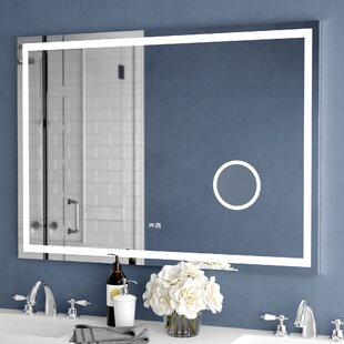 Electric With Clock Bathroom Vanity Mirror