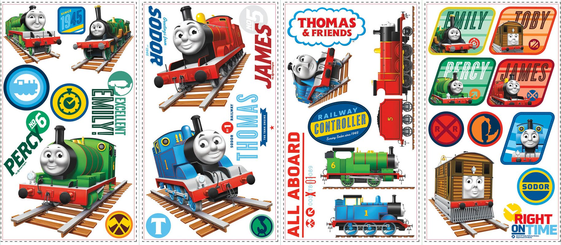 Popular Characters Thomas The Tank Engine Wall Decal