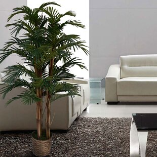 Incroyable Tall High End Realistic Silk Floor Palm Tree In Planter