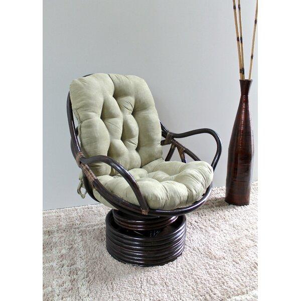 Indoor Wicker Swivel Chair | Wayfair
