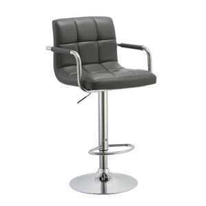 Kerin Adjustable Height Swivel Bar Stool by Orren Ellis
