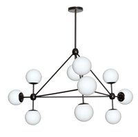 Glass ball chandelier wayfair centreville glass balls 10 light sputnik chandelier mozeypictures Image collections