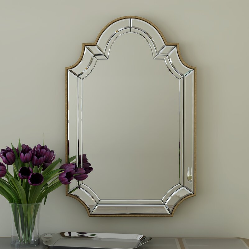 Willa Arlo Interiors Arch Crowned Top Champagne Wall Mirror Reviews