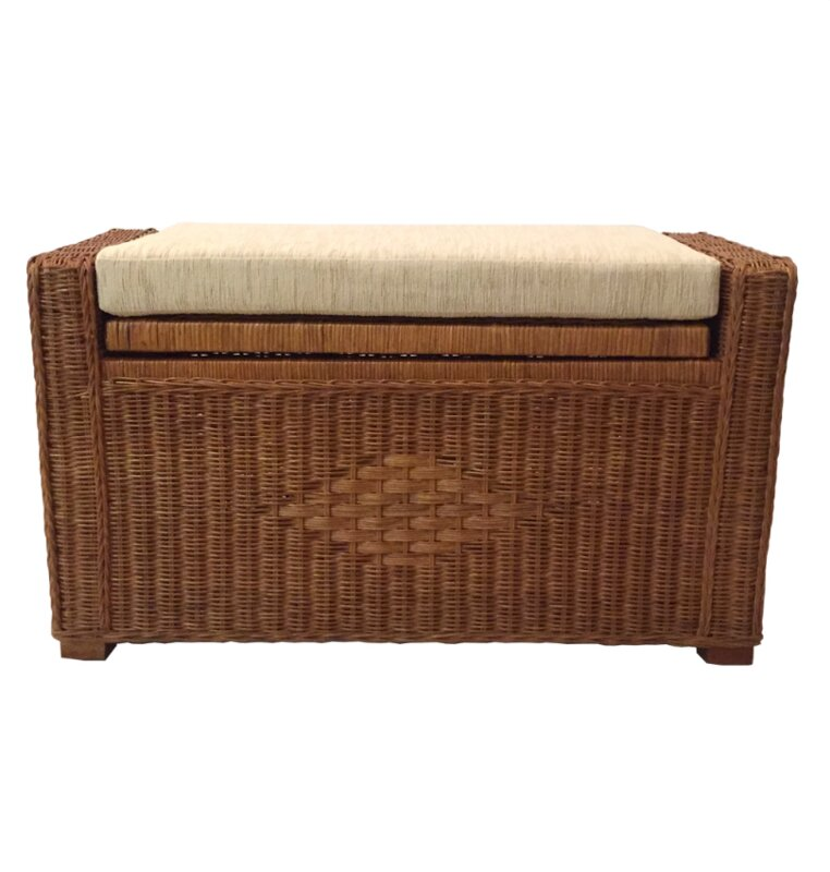 Adam Rattan Wicker Storage Trunk