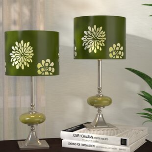 Lime green table lamp wayfair 19 table lamp set of 2 mozeypictures Image collections