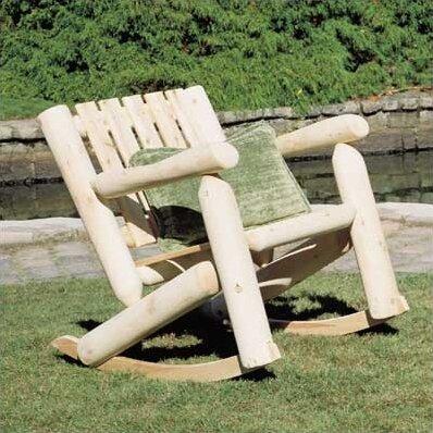 Attirant Low Back Indoor / Outdoor Cedar Rocking Chair