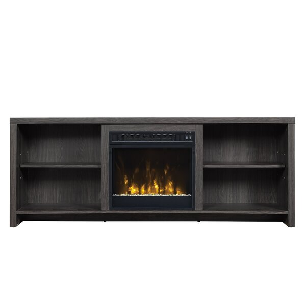 pelton tv stand for tvs up to 65 with fireplace reviews allmodern. Black Bedroom Furniture Sets. Home Design Ideas