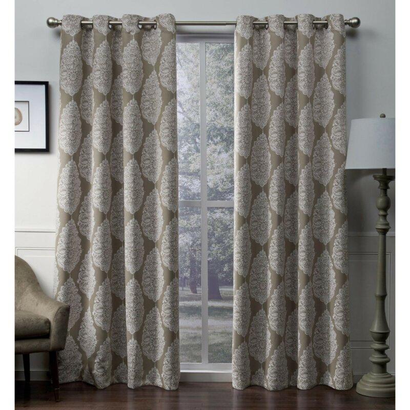 Queensland Geometric Blackout Thermal Grommet Curtain