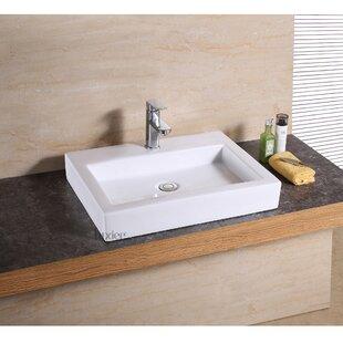 Quickview. Luxier. Ceramic Rectangular Vessel Bathroom Sink
