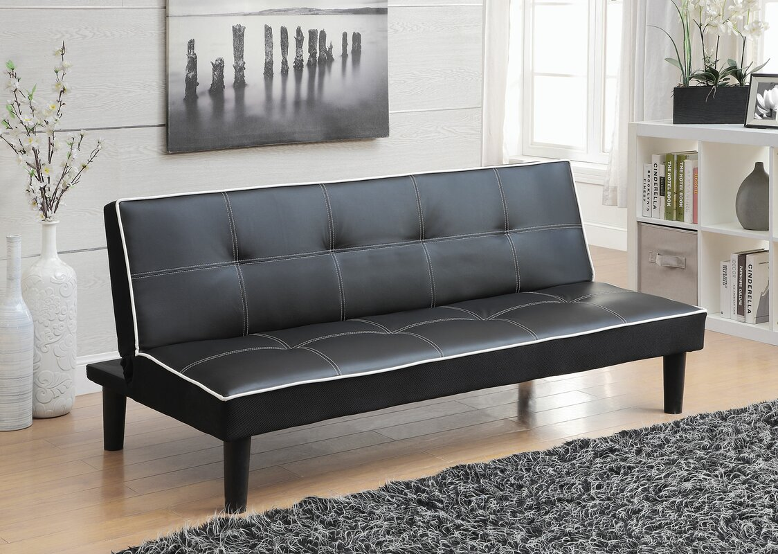 Andover Mills Ailith Leather Sleeper Sofa Amp Reviews Wayfair