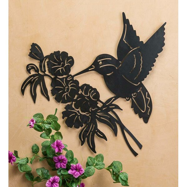 Wind Amp Weather Hummingbird And Flower Silhouette Metal