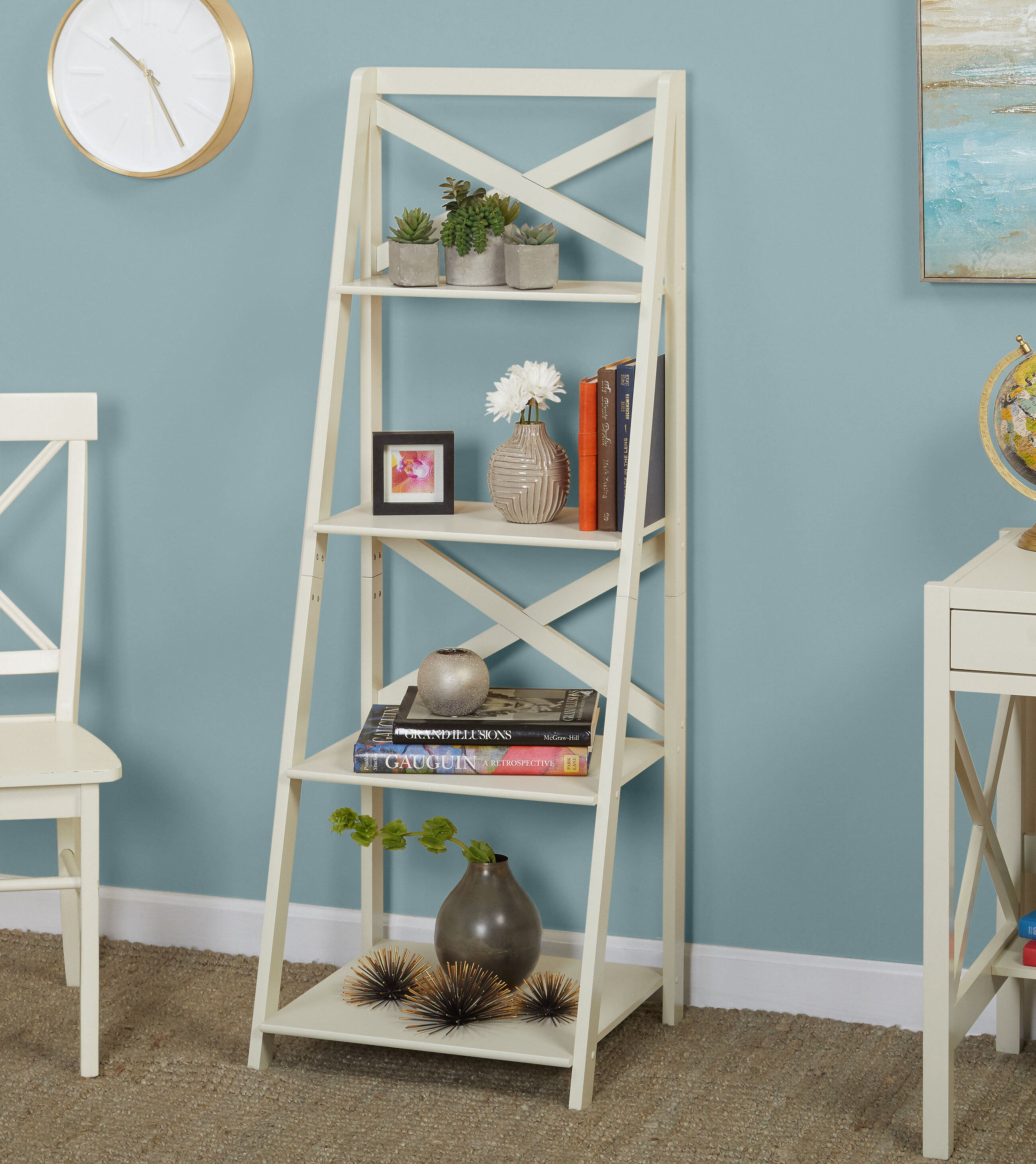 bookcases ladder archives white product category wood create office bookshelf and furniture