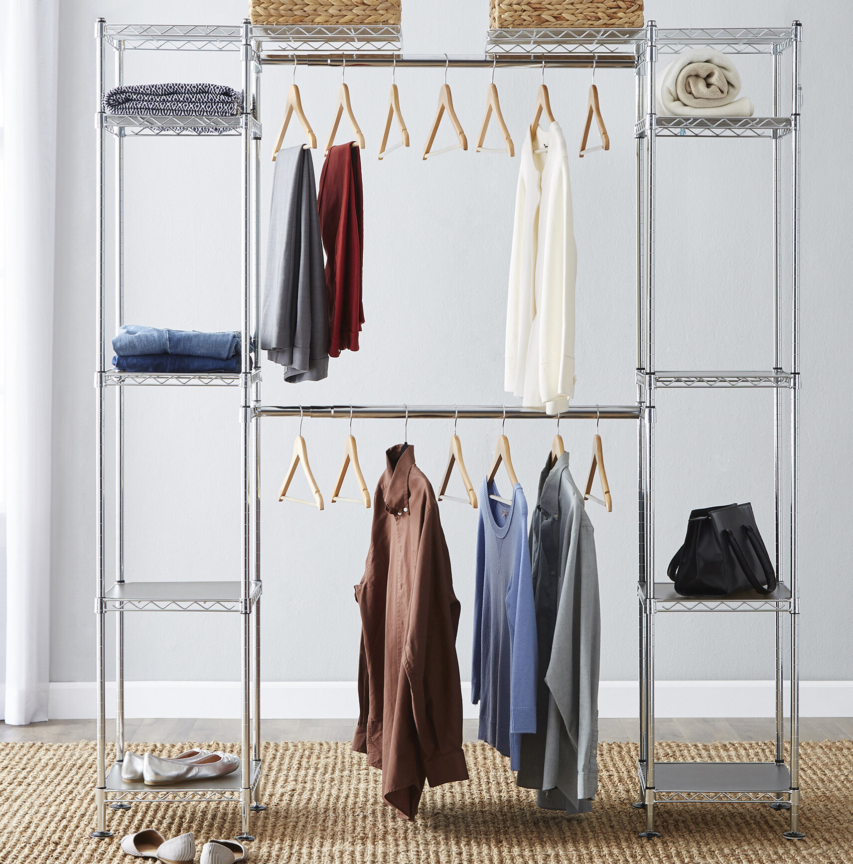 today garden product overstock trinity closet seville expandable shipping home organizer free
