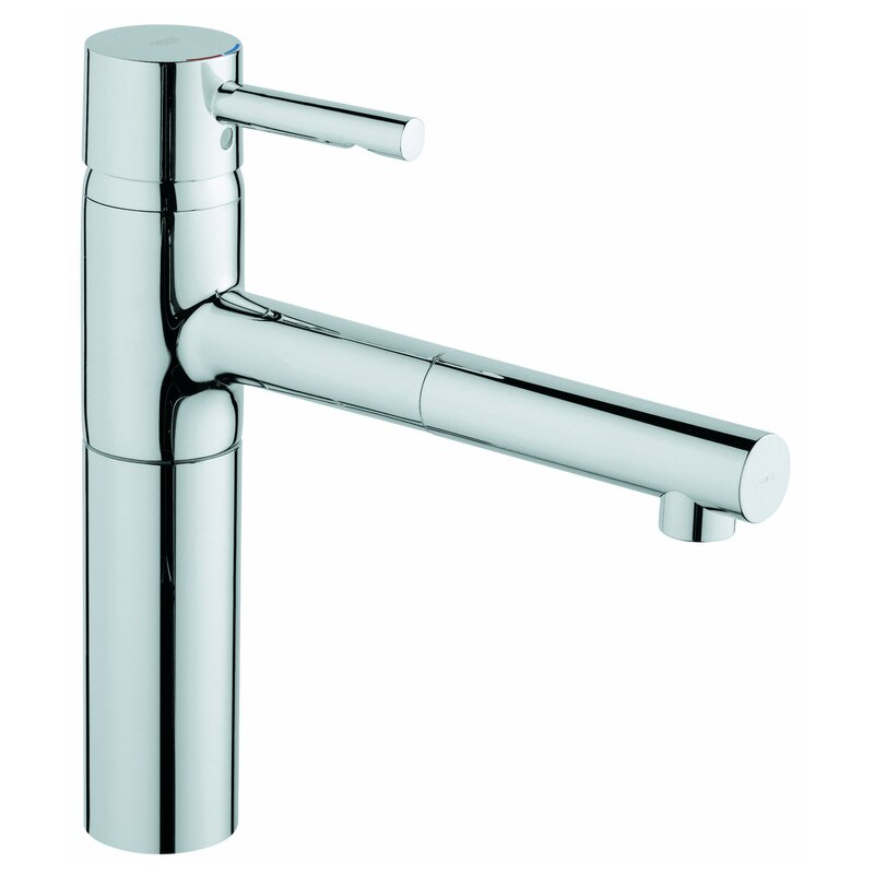 Grohe Essence Pull Out Single Handle Deck Mounted Standard