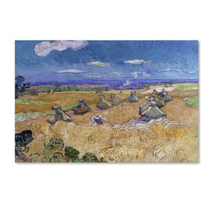 Trademark Art 'Wheat Fields With Reaper At Auvers' Print ...