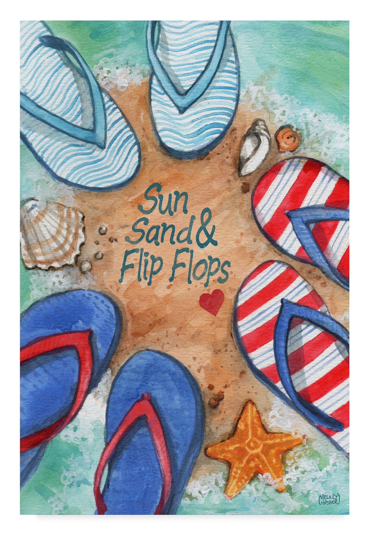 1c3535c8cdd5eb Winston porter suns and flip flops acrylic painting print on wrapped canvas  wayfair jpg 1240x1820 Flip