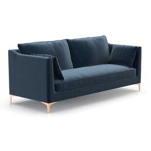 modern contemporary blue suede sofa allmodern rh allmodern com blue suede leather sofa blue suede leather sofa