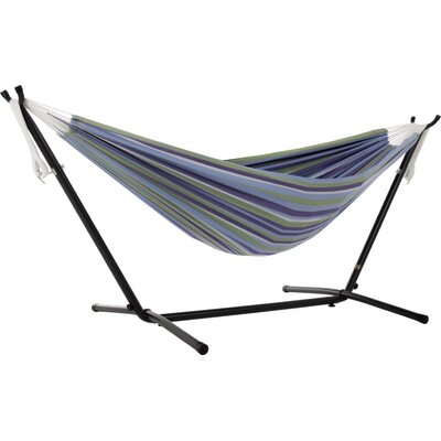 Beachcrest Home Dorinda Double Hammock with Stand Stand Color: Black, Color: Maui