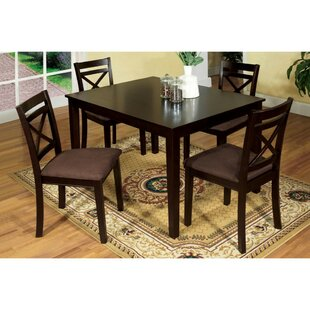 Pires 5 Piece Solid Wood Dining Set