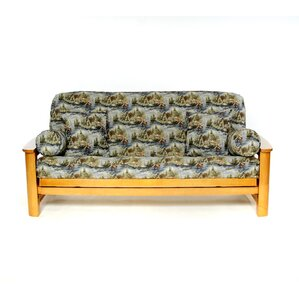 Gone Fishing Box Cushion Futon Slipcover by Lifestyle Covers