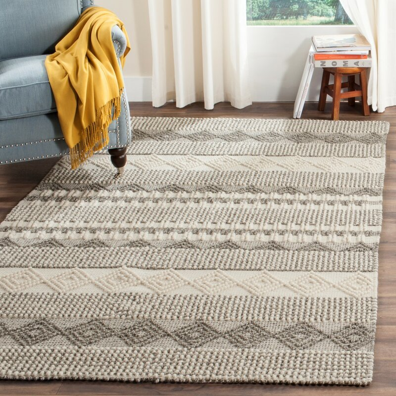 Billie Hand Tufted Gray Ivory Area Rug Amp Reviews Allmodern