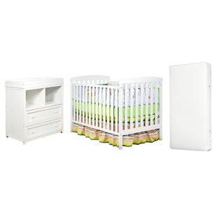Berenice 3 Piece Crib Set With Mattress