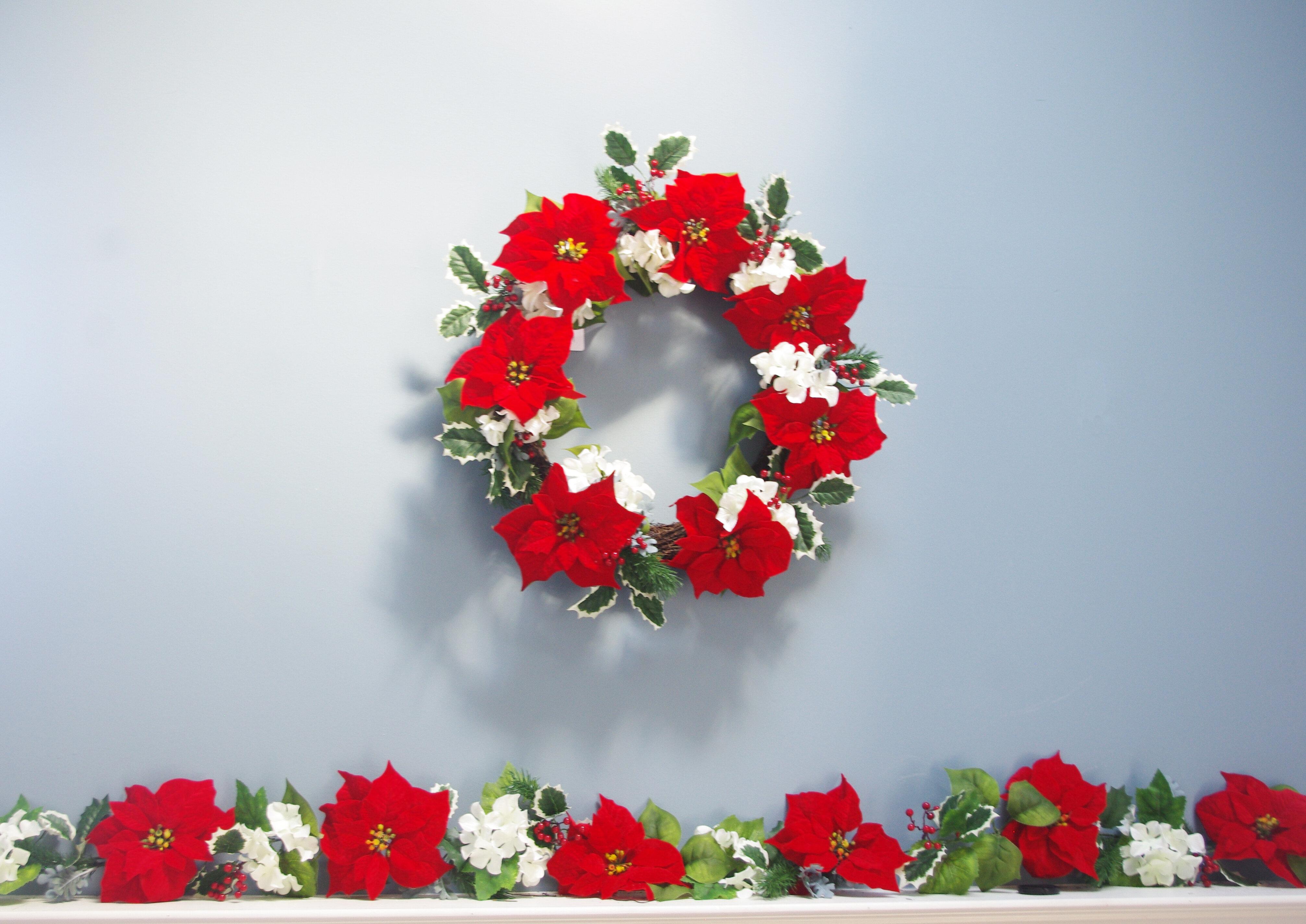 The Holiday Aisle Poinsettia Hydrangea Christmas