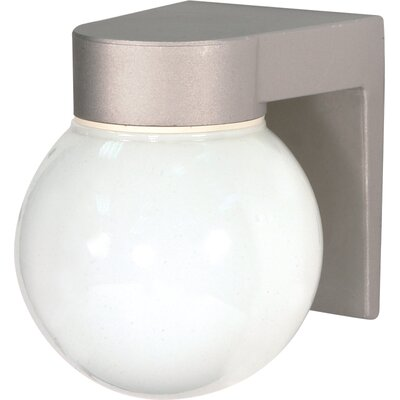 Zipcode Design Westford 1-Light Outdoor Sconce Finish: Satin Aluminum