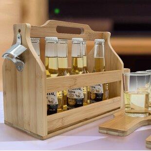 Van Reipen Opener Bamboo Floor Wine Bottle Rack (Set of 3)