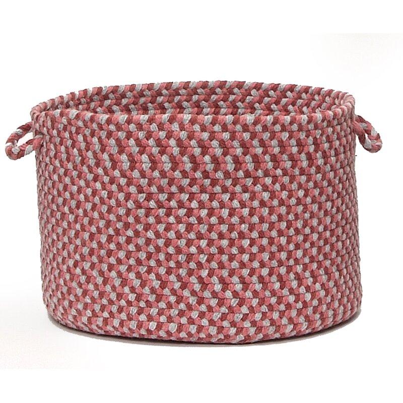 """Alcott Hill Lettie Utility Basket  Size: 14"""" x 10"""", Color: Brick Marketplace"""