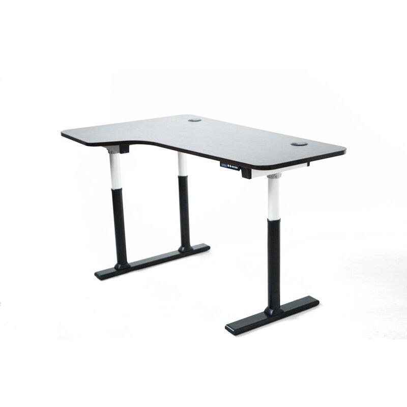 vortex series electric height adjustable corner standing desk