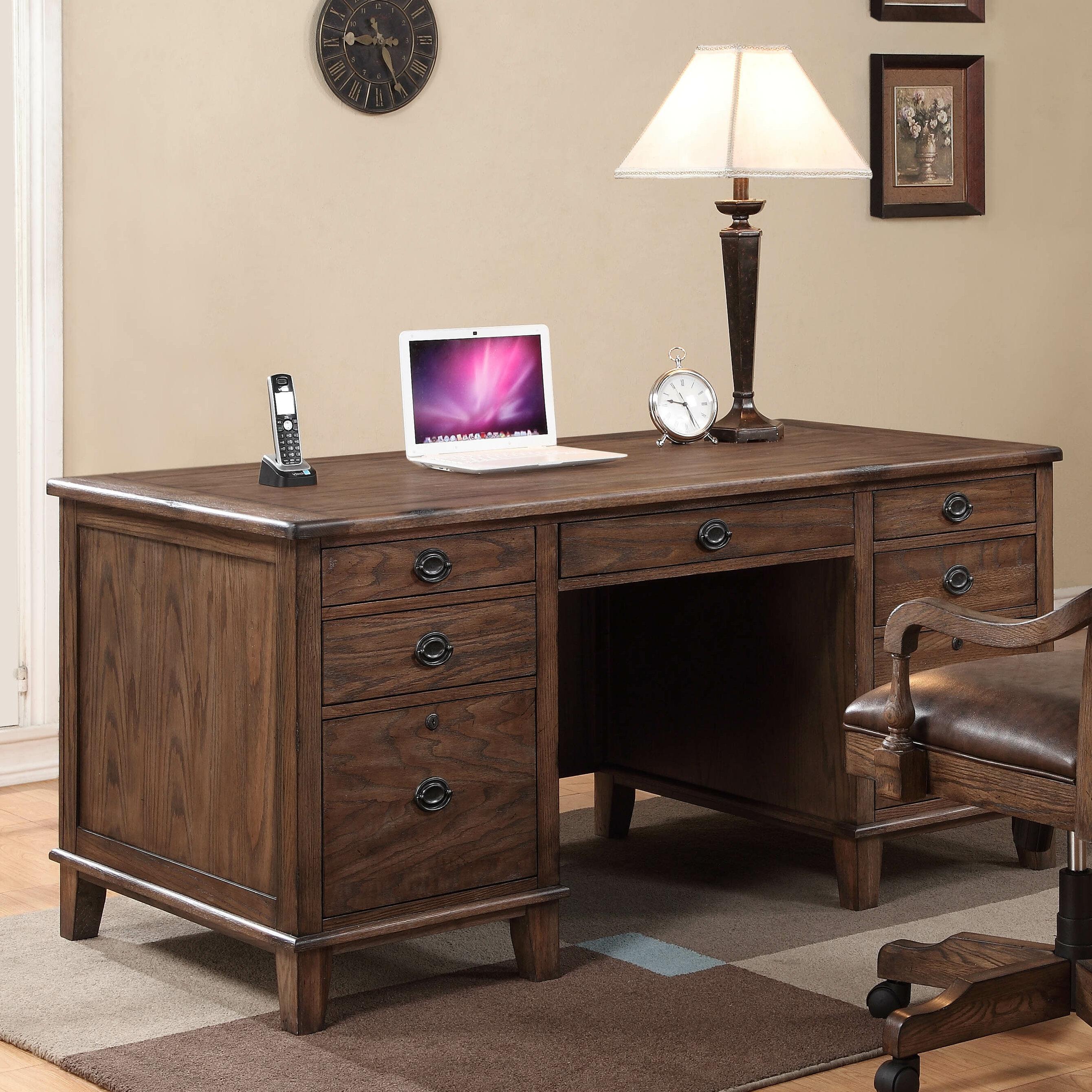 Harrison Flats Solid Wood Executive Desk
