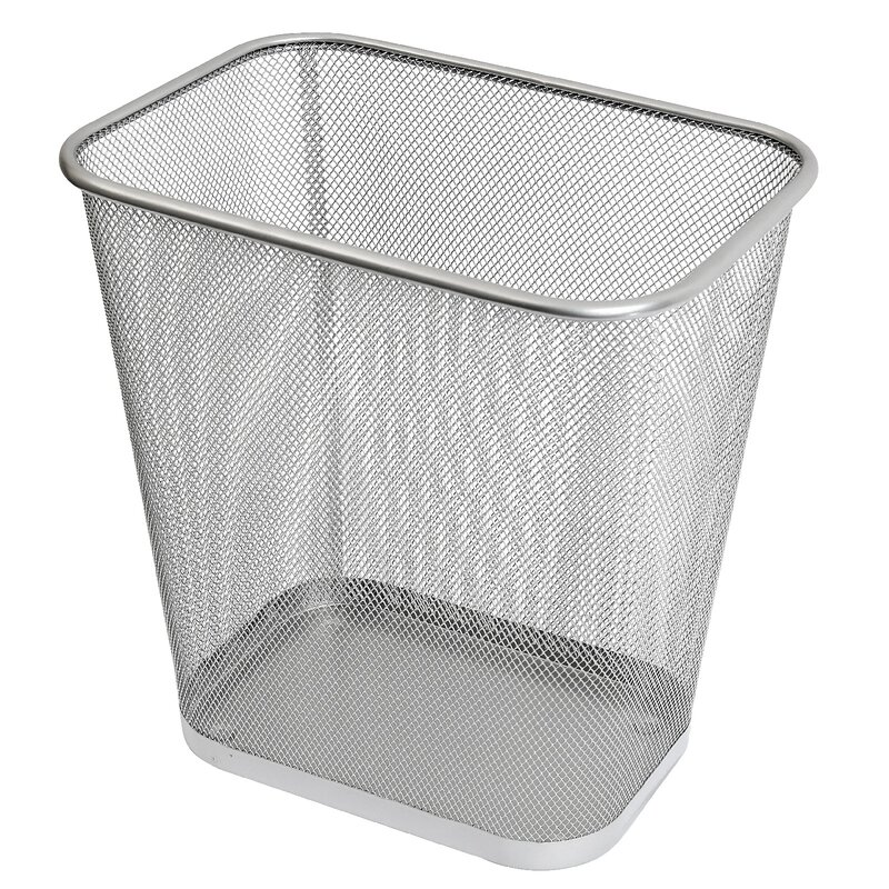 Waste Basket ybm home steel waste basket & reviews | wayfair