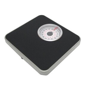 Silver Frame Mechanical Bathroom Scale With Round Display
