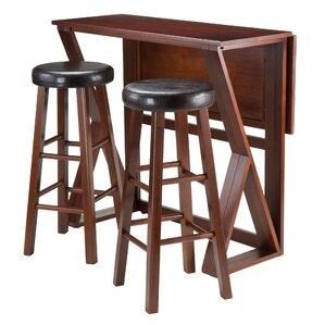 Brayan 3 Piece Pub Table Set by Latitude Run
