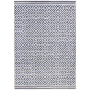 Meadow Flat Woven Blue Cream Rug