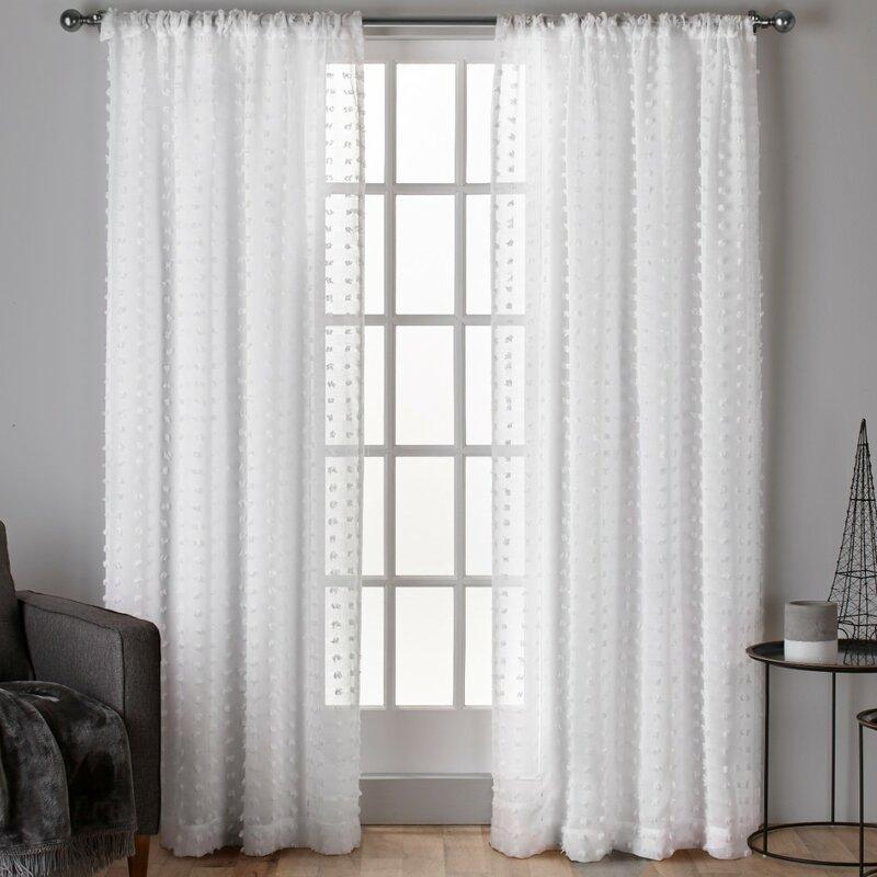 Spirit Solid Sheer Rod Pocket Curtain Panels Amp Reviews
