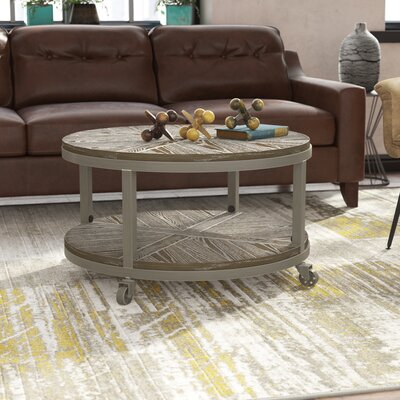 Leather Amp Faux Leather Amp Wood Coffee Tables You Ll Love In